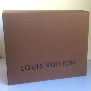 LOUIS VUITTON Large Big Brown Storage Gift Box